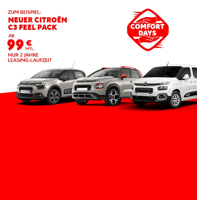 Citroën Comfort Days Leasingangebote
