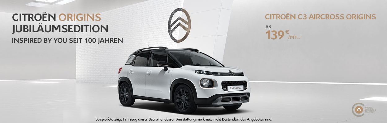 Citroen C3 Aircross Origins Online Leasing