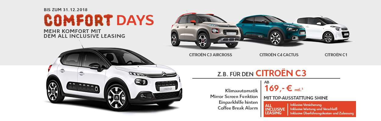 Citroën Comfort Days All Inclusive Leasing