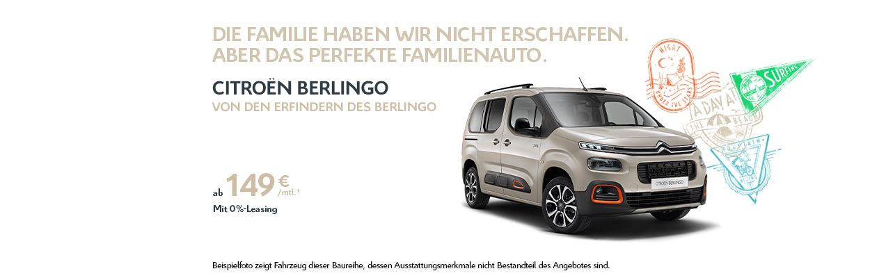 Citroën Berlingo 0 %-Leasing-Angebot