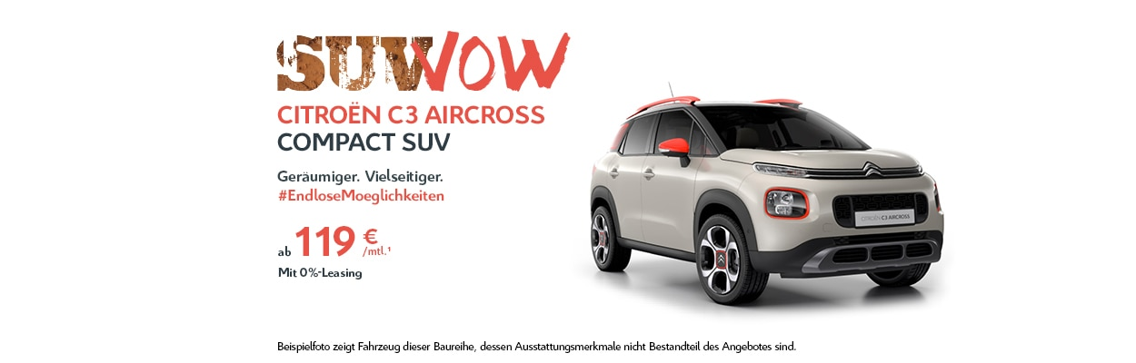 Citroën C3 Aircross SUV 0 %-Leasing-Angebot