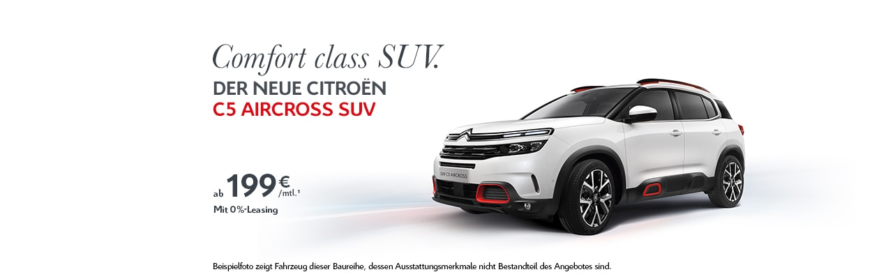 Citroën C5 Aircross SUV 0 % Leasing-Angebot
