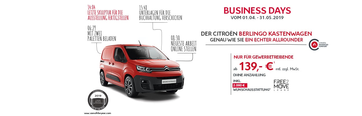 Citroën Berlingo Kastenwagen Businessdays Angebot