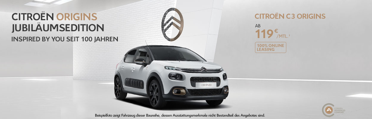 Citroën C3 Aircross SUV Origins Jubiläumsedition Angebot