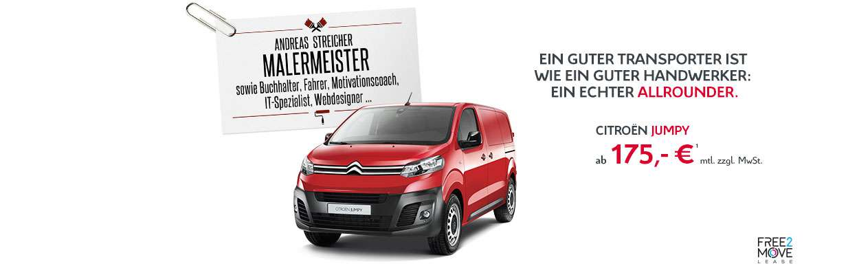 Citroën Jumpy Businessangebot Oktober 2018