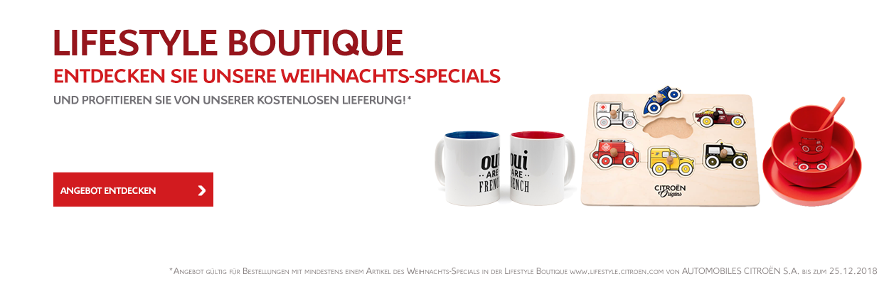 Citroën Lifestyle Boutique Weihnachts-Specials