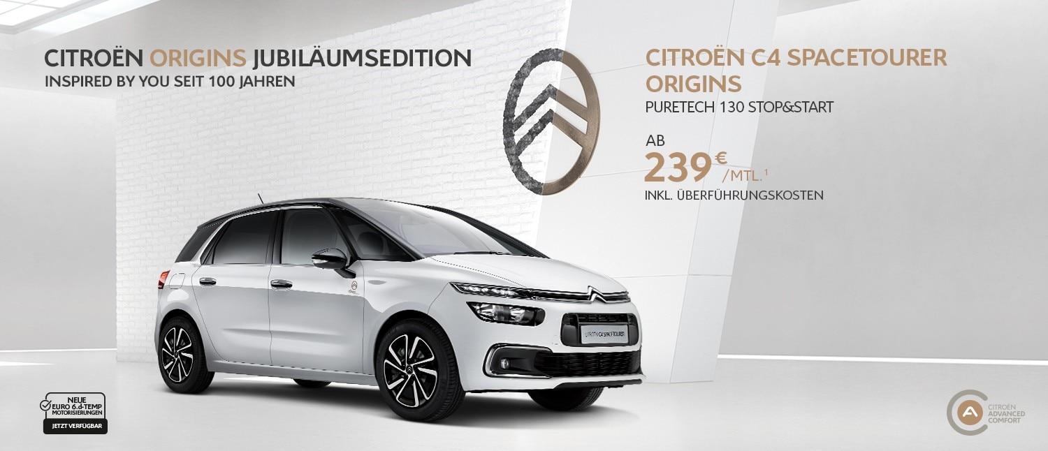 Citroën C4 SpaceTourer Origins Privatkundenangebot