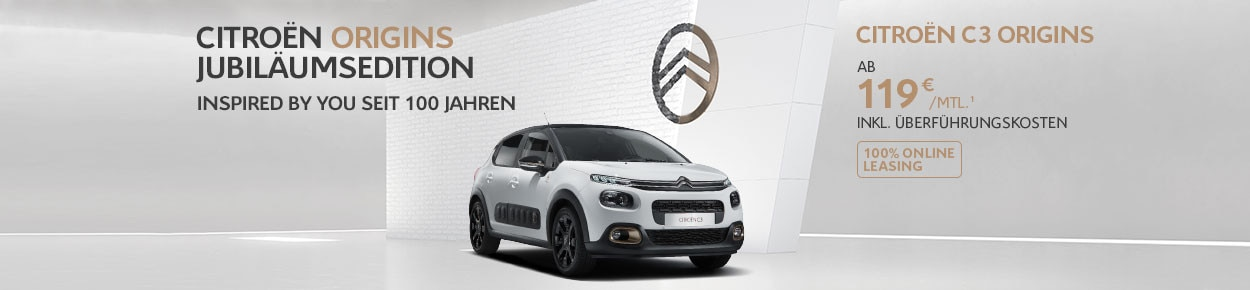 Citroën C3 Origins Privatkundenangebot Online Leasing